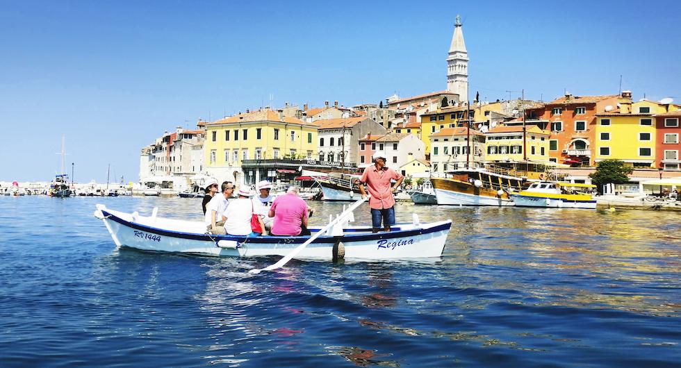Batanabåtar i Rovinj är lika trevligt som gondolerna i Venedig och de har viss historia gemensam.