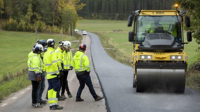 Nu testas asfalt med lägre klimatpåverkan