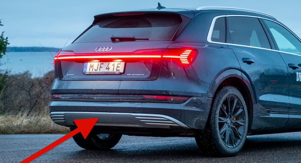 Audi e-tron tappar dragkroken