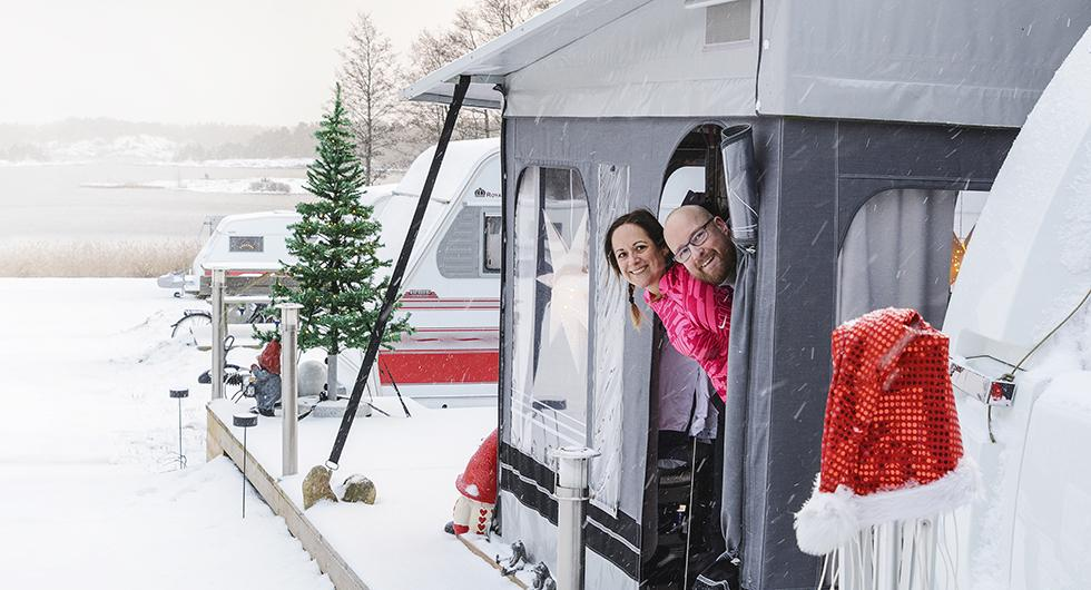 Bo Mobilt: Vintercamping och vintermys i husvagnen