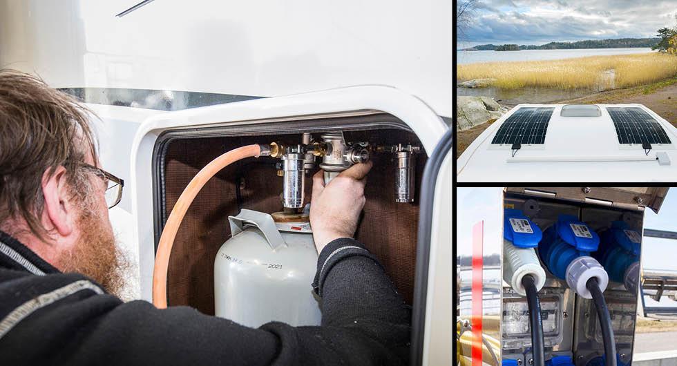 Guide: Energikällorna som driver husbilen – 12 volt, 230 volt, solceller och gasol
