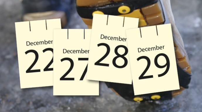 Var extra försiktig i jultrafiken