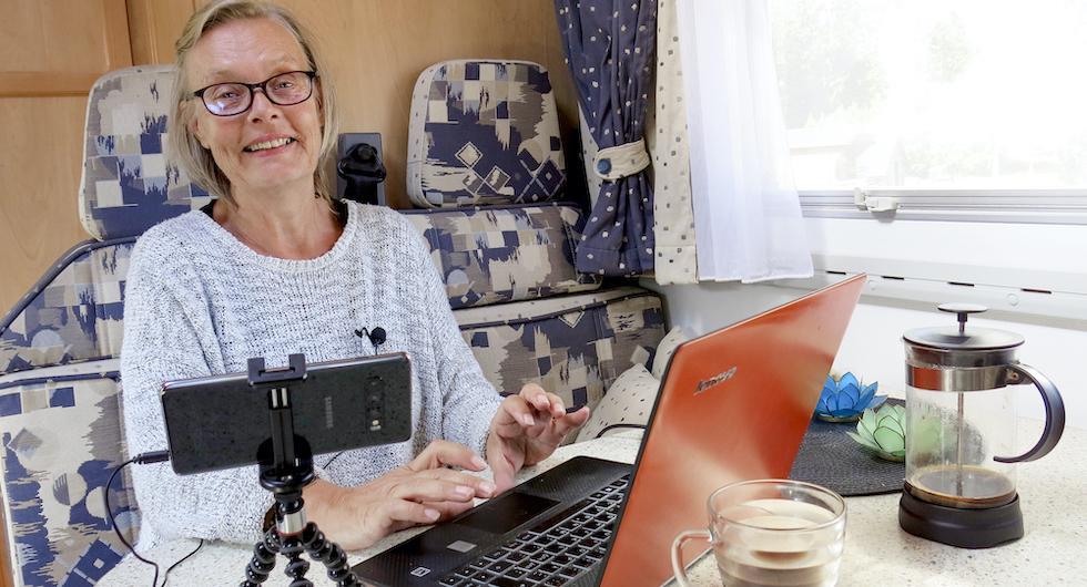Annika Elgeskog bor i husbil på heltid och fricampar ofta. – Jag har känt mig lite otrygg en enda gång och då bytte jag plats för natten, säger hon.