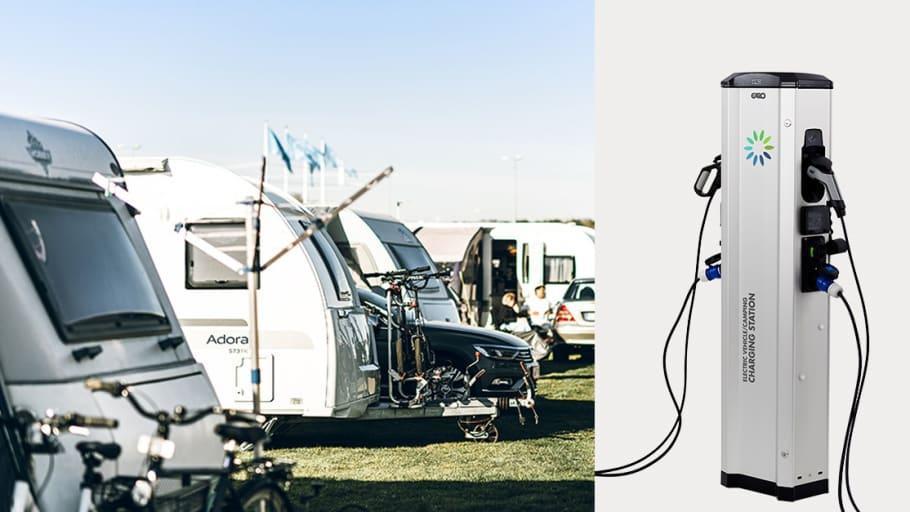 Garo lanserar första stolpen med eluttag för både elbilsladdning och camping