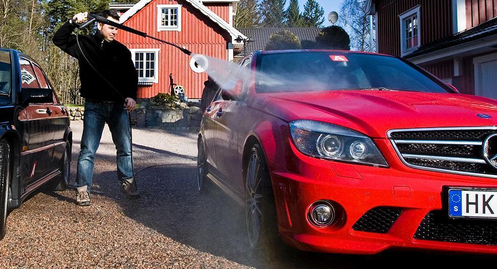 Fultvätt av bilen allt vanligare