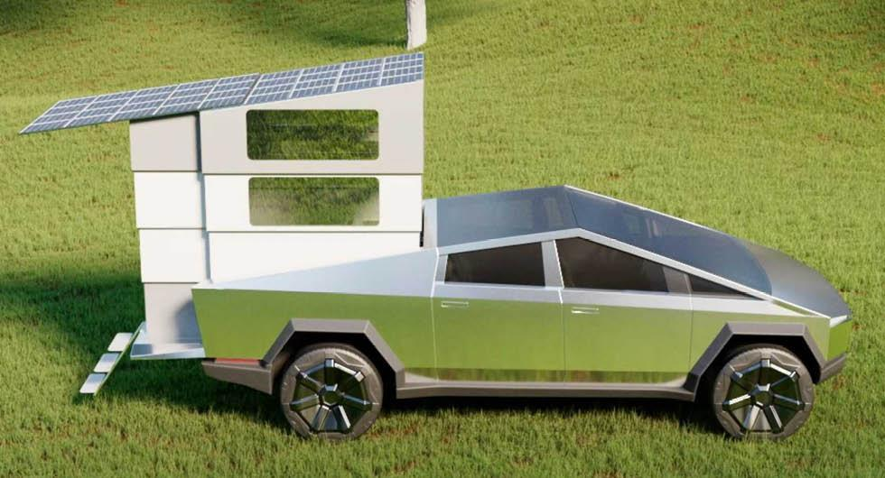 Campingkitet som gör Tesla Cybertruck till husbil