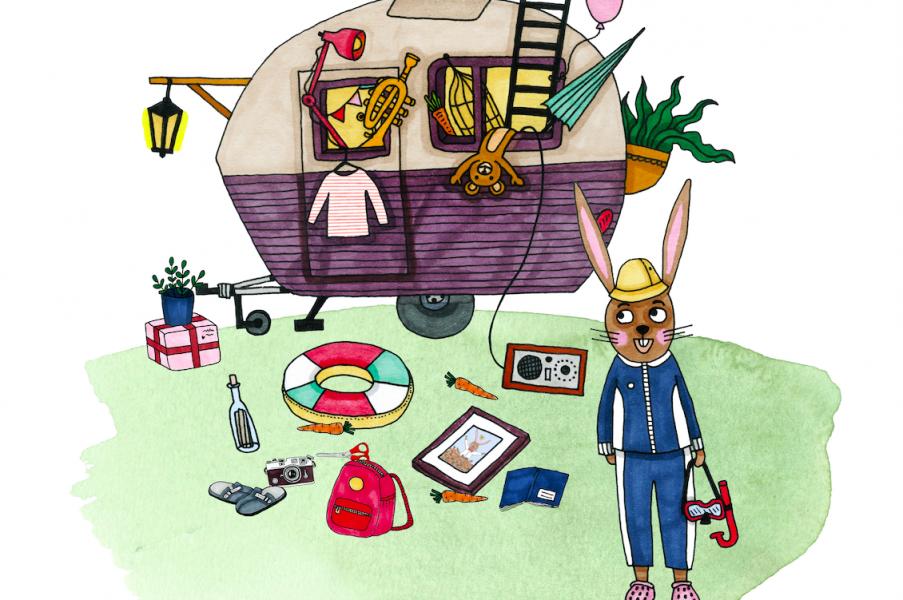 Ny barnbok om camping