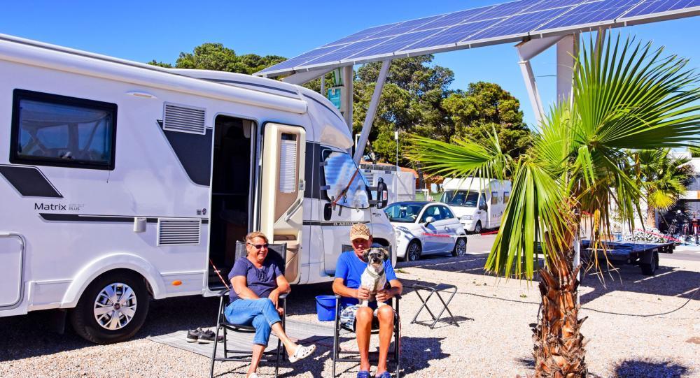 Los Alcazares är ekoställplatsen där all energi kommer från solen