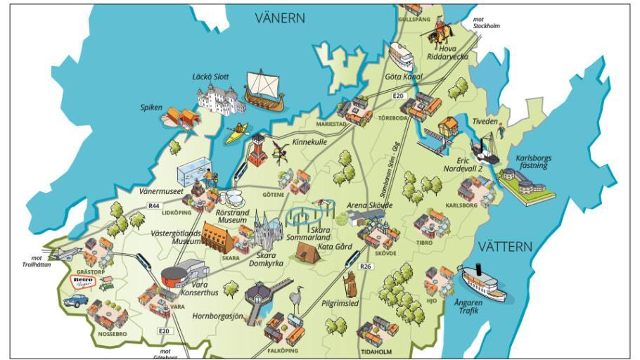 Nu lanseras Din guide till Skaraborg