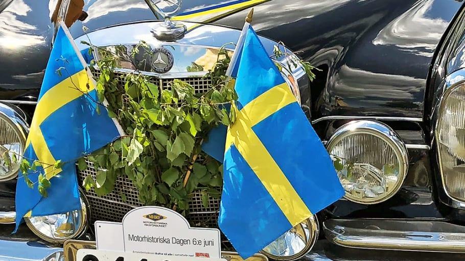 Coronaanpassat firande av Motorhistoriska dagen den 6 juni