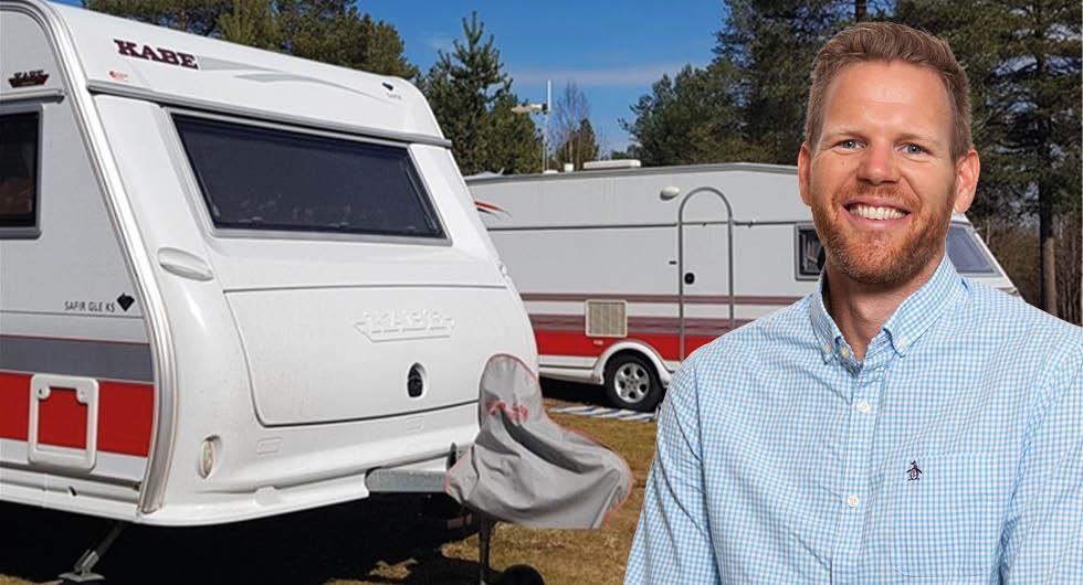 Att angöra en campingplats
