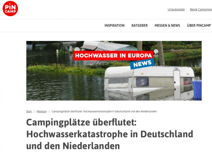 De katastrofala översvämningarna i Tyskland och campingsituationen