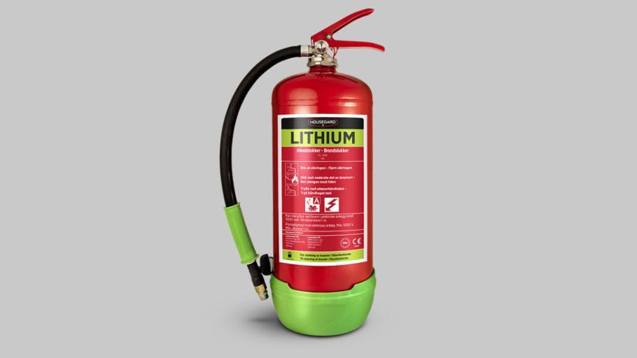 AVD-släckare behövs för bränder i litiumjonbatterier