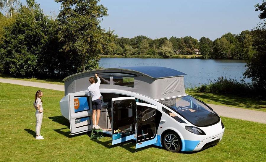Husbilen SHOW behöver enbart solkraft