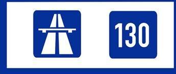 Tysk skylt för rekommenderad högsta hastighet