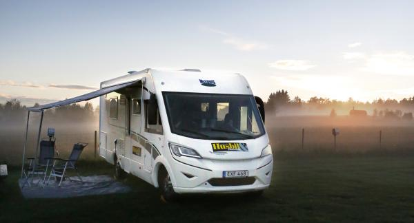 Abborrtjärn är en obemannad camping där tystnaden ofta råder.