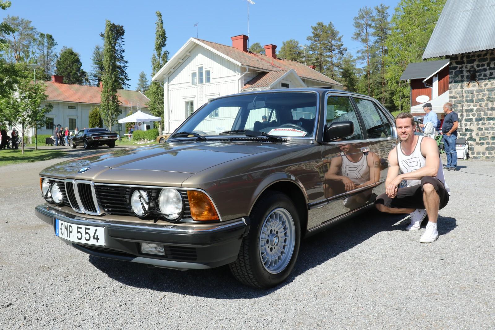 Johan Rossander vann ett av juryns tre priser för sin BMW 735i 1983 som han renoverat.