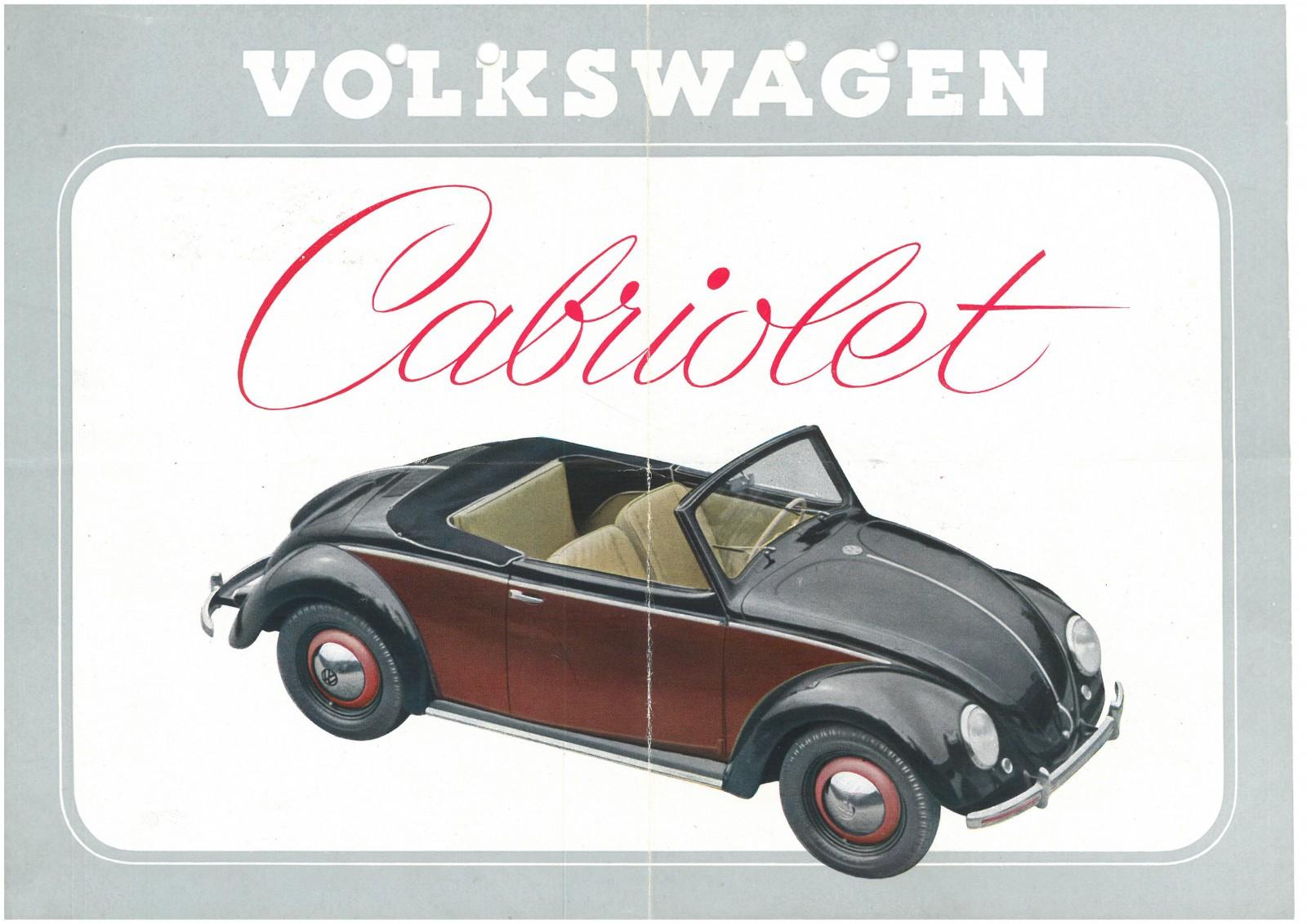 Hålslaget och med vikmärken – men ändå en originalbroschyr på Volkswagens tvåsitsiga cabriolet Hebmüller. Vilket marknadsfynd!