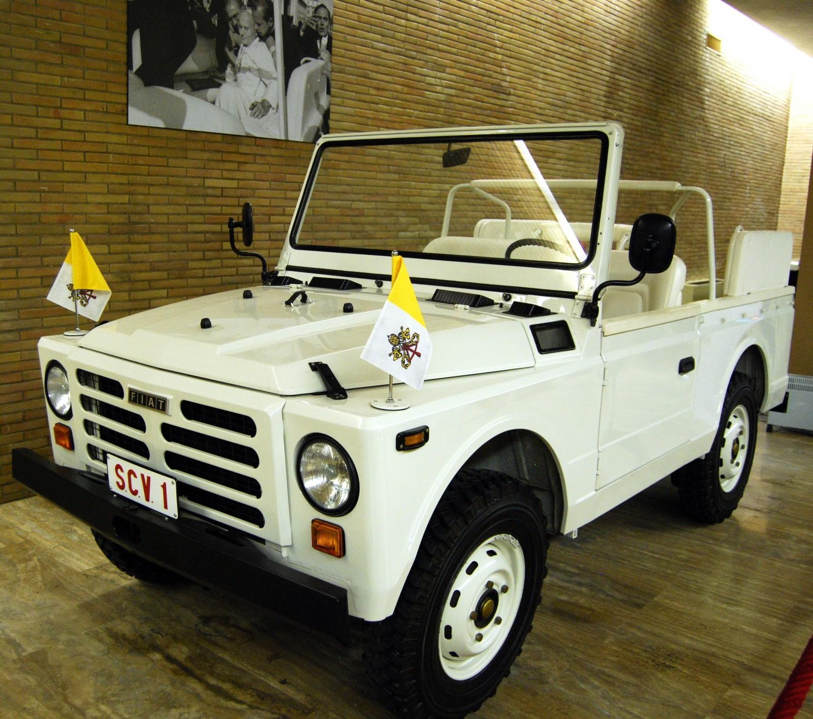Det var i en Fiat Nuova Campagnola som Johannes Paulus II färdades i när han utsattes för ett attentat.