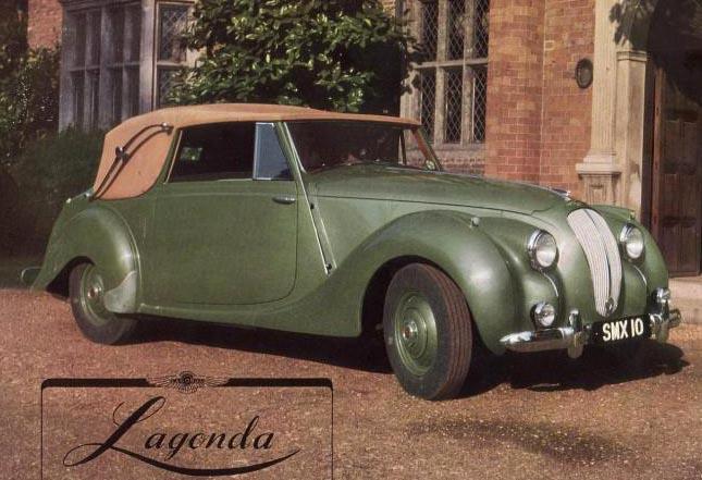 Efterkrigstidens nya Lagonda 2,6 litre.
