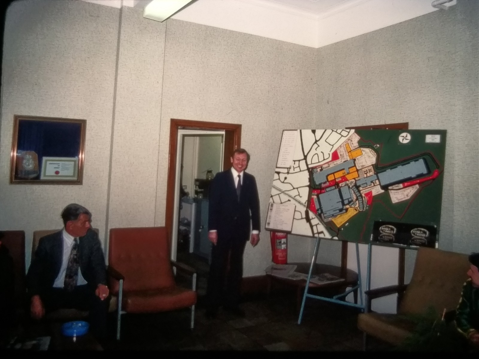 Presentation av fabriksområdet i Solihull