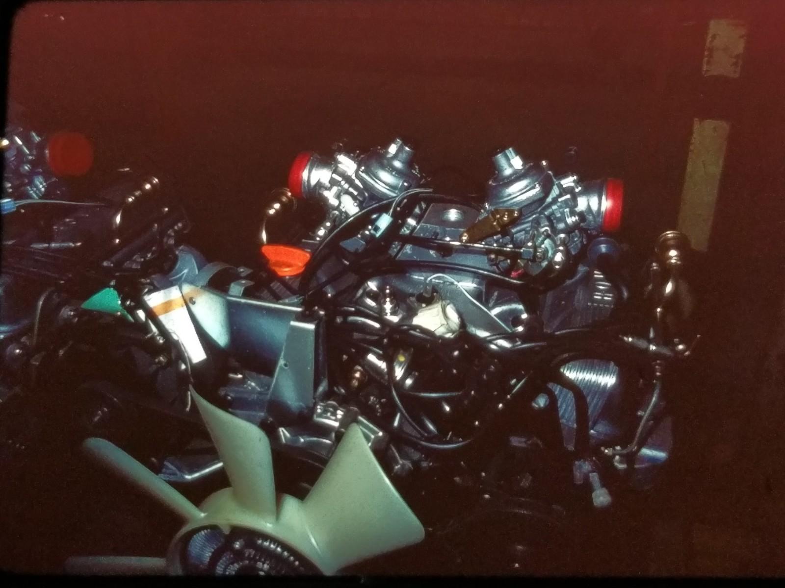 Range Rover-V8 redo för montering.