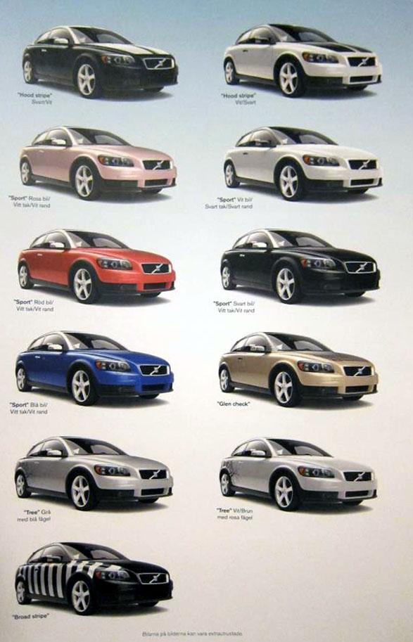 Volvo C30 i olika kostymer
