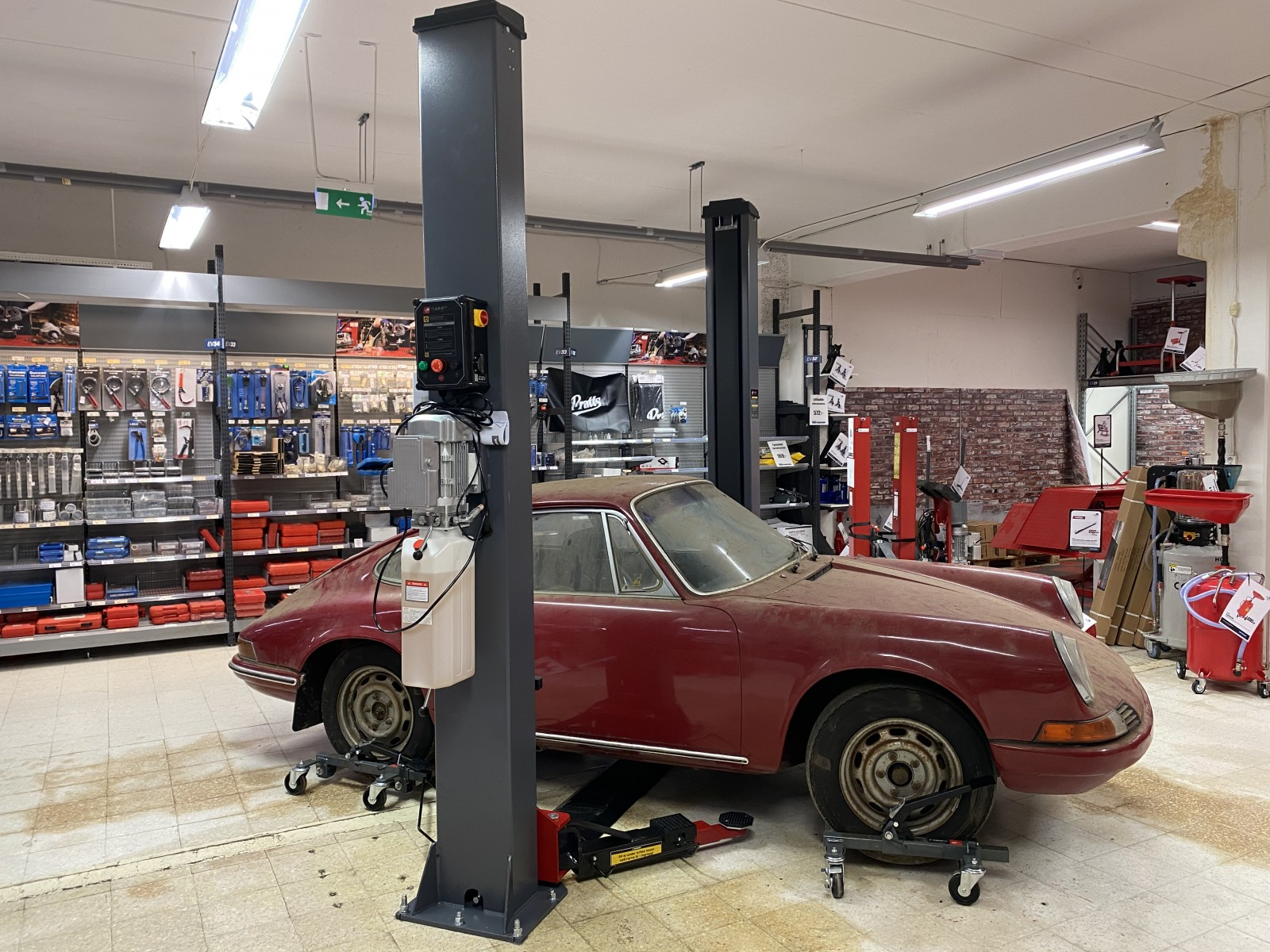 Porschebärgning med komplikationer