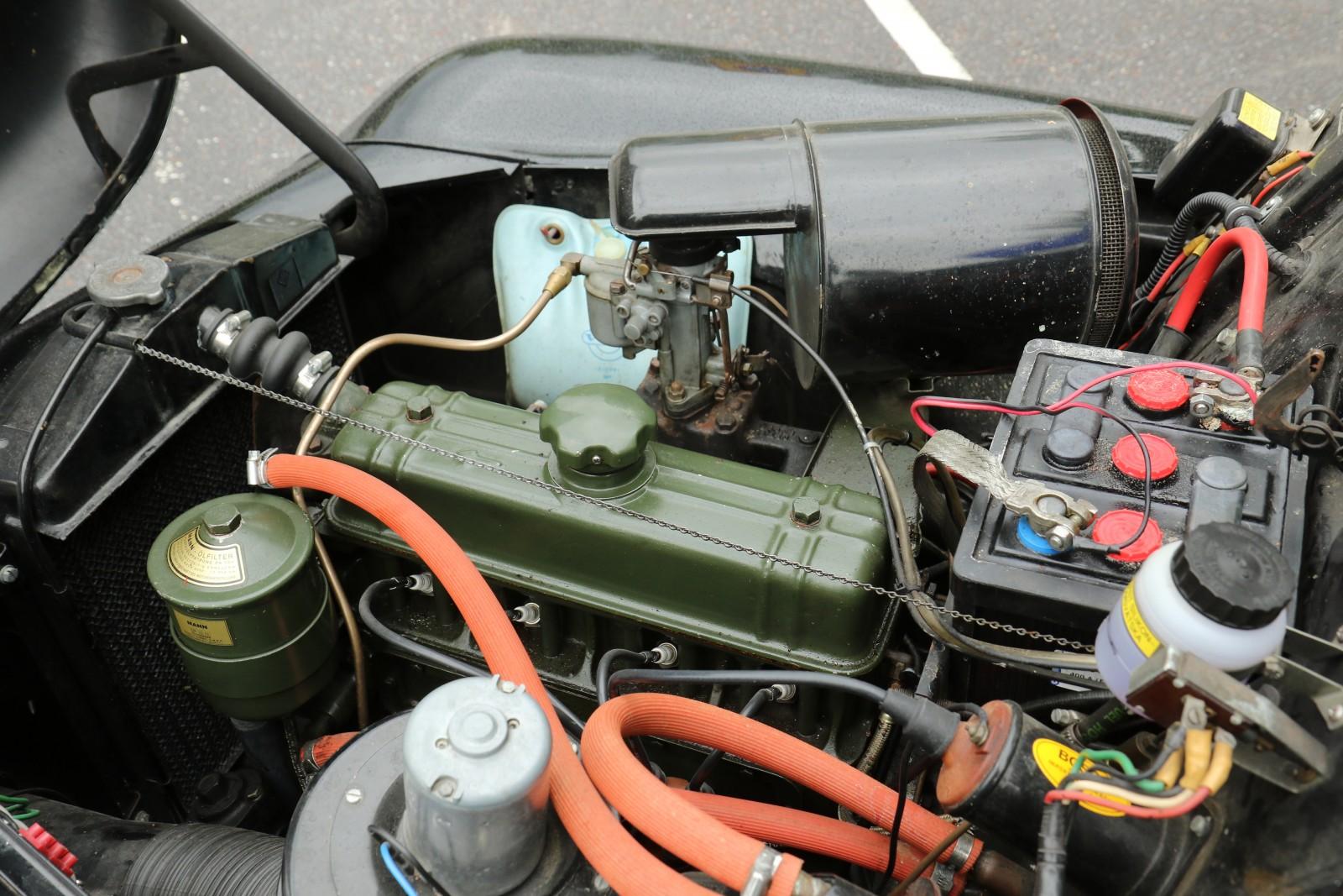 Prydlig motor som skötts av kunniga PV-klubbsmedlemmar.