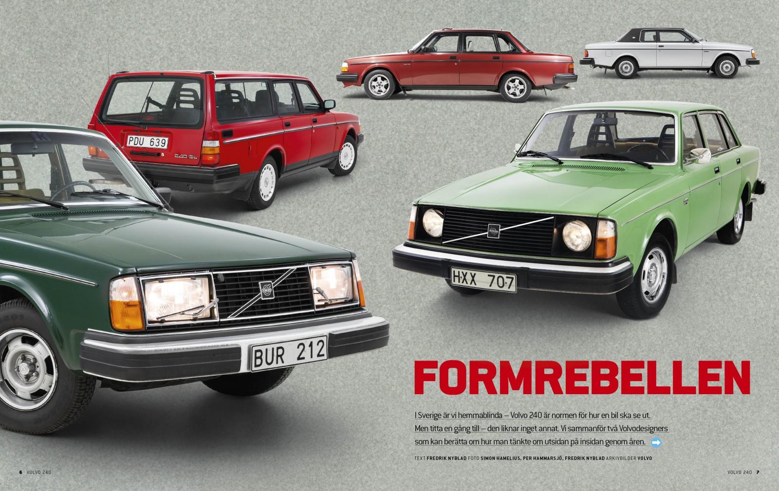 Träffa formgivarna bakom Volvo 240 och följ utvecklingen under 18 års produktionstid.