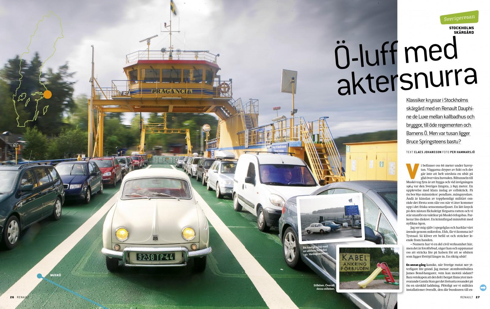 Dauphine som upplevelsebil i Stockholms skärgård – en fullträff!