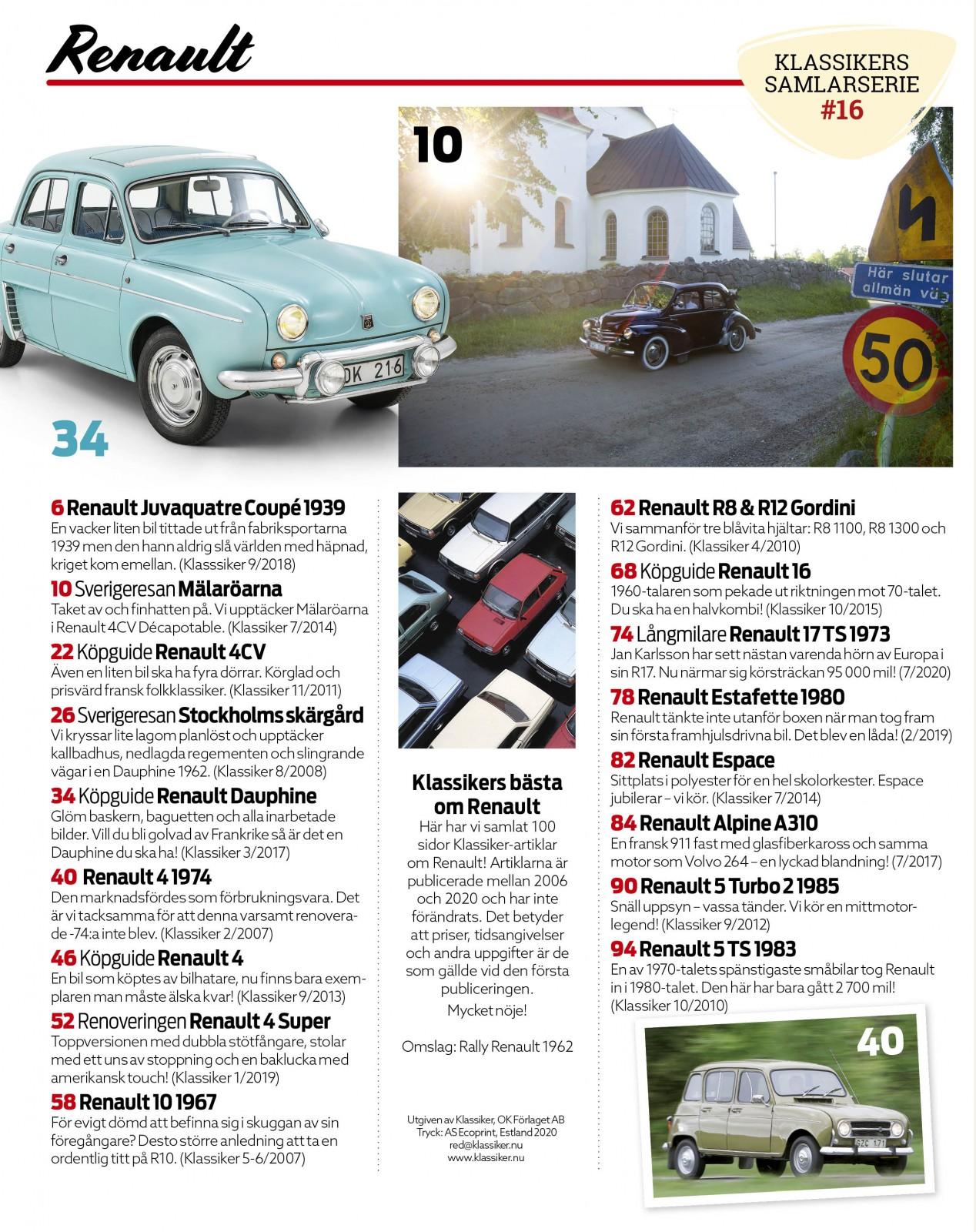 Renault – exklusiv samlarutgåva från Klassiker!