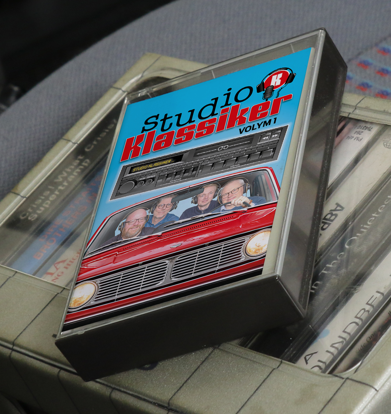 Of course, the cassette fits right into the assigned storage cubby in many 1980s cars.