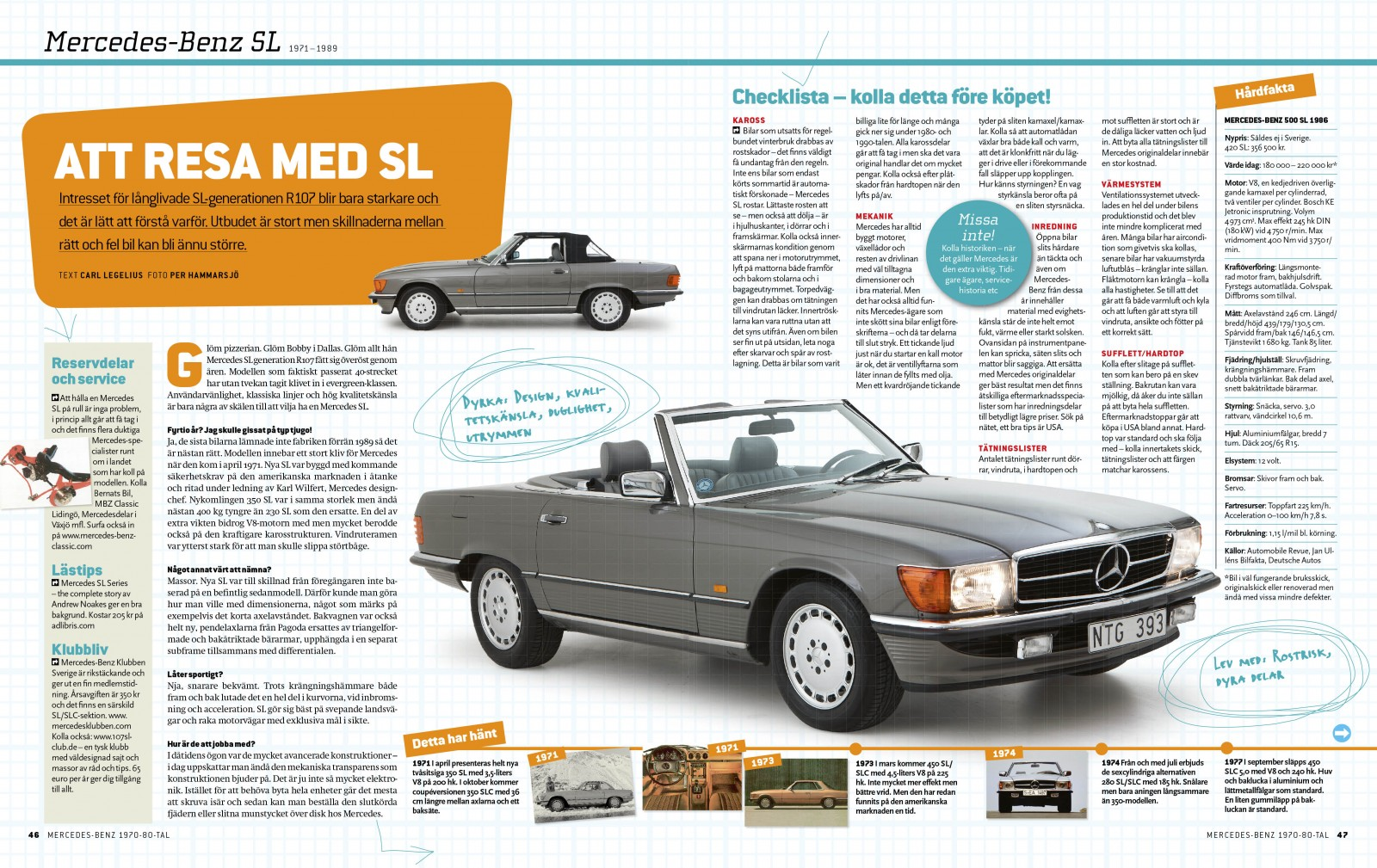 Samlarutgåva: Mercedes-Benz 1970-1980-tal!