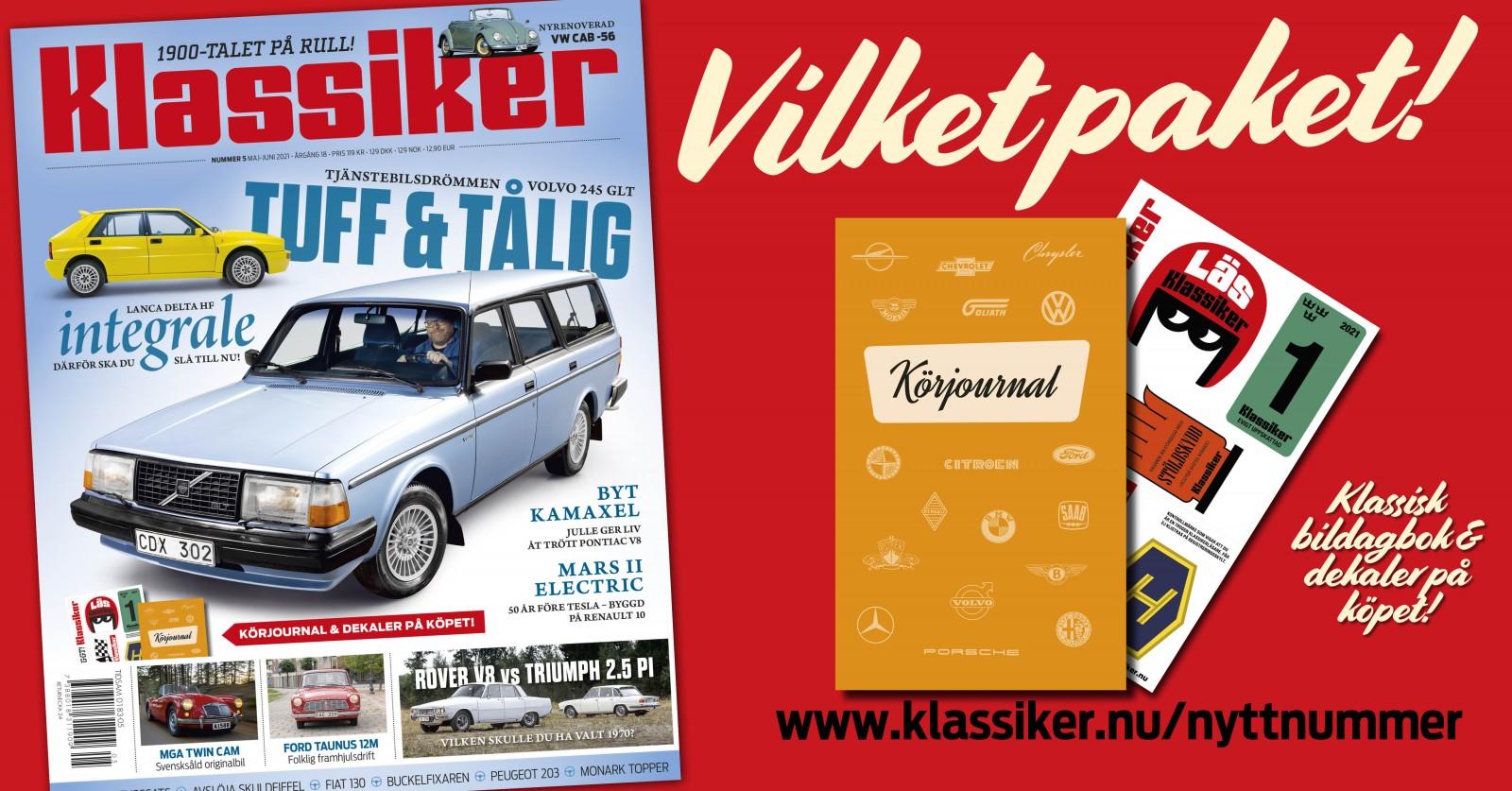 Läs om Mars II Electric, Rover 3500 och Triumph 2.5 PI, Ford 12m och mycket mer i nya Klassiker. Du får dessutom med en körjournal!