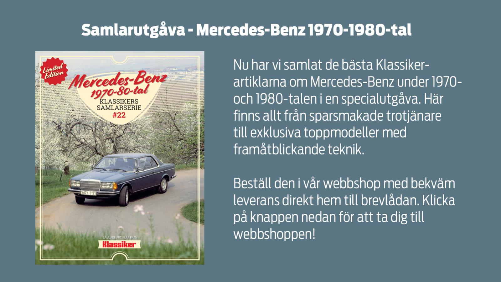 S som i suverän – Mercedes S-klass W116