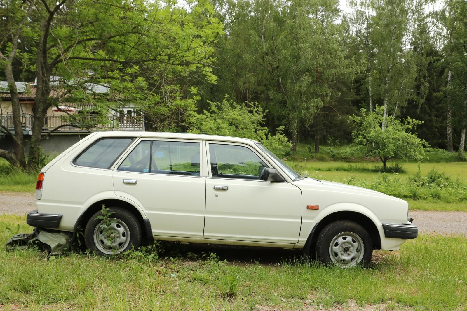 Jans andra Honda Civic Wagon 1982 har gått 2 006,5 mil.