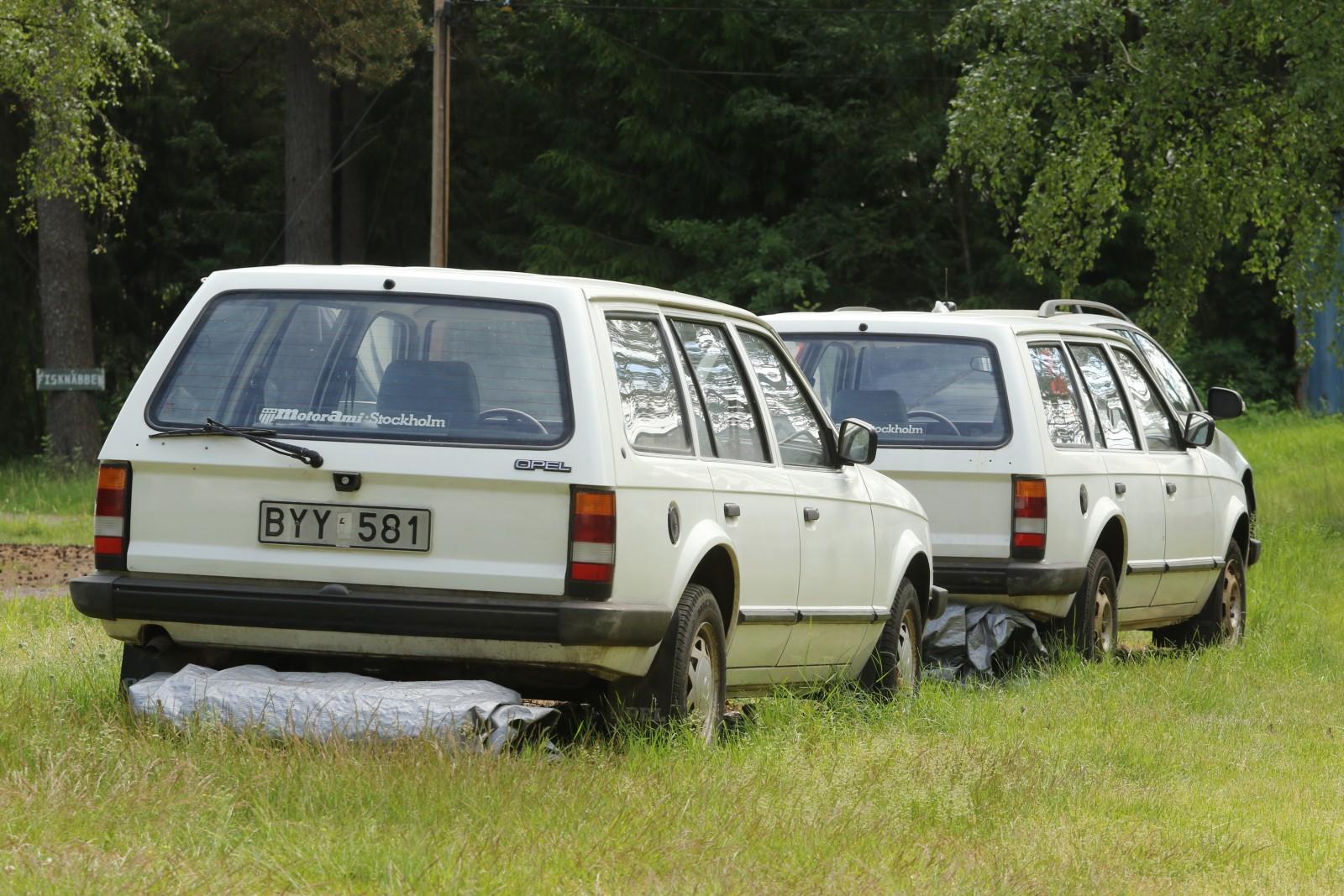 Långmilaren i samlingen är i andra sammanhang en lågmilare! Jans Opel Kadett Caravan med registreringsnumret BYY 581 har gått 3 983,7 mil.