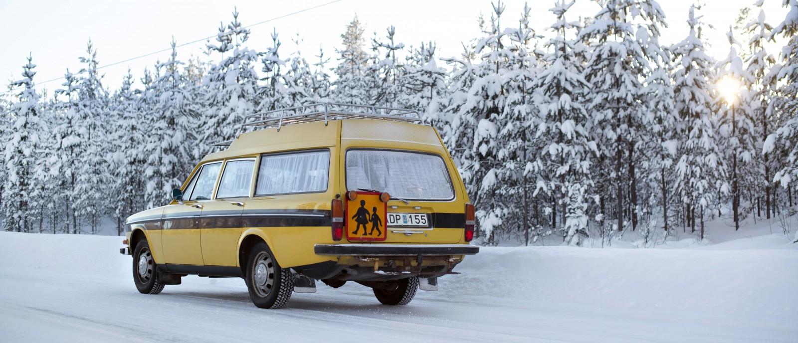 Brrr... Volvo 145 Express som taxi!