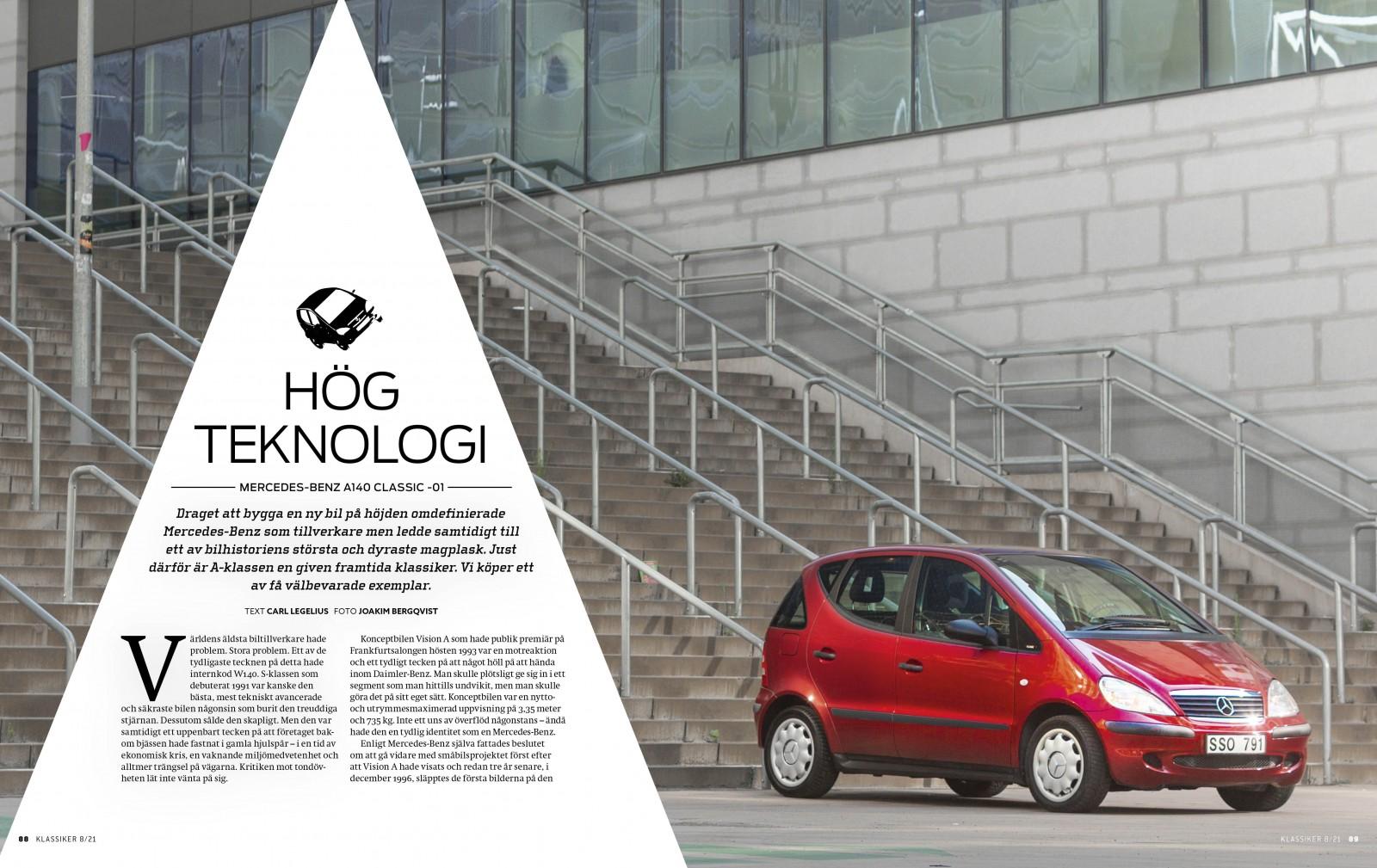 Läs artikeln om en A140 som bara gått 1800 mil på 20 år i Klassiker 8/2021!