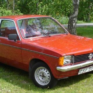 Opel Kadett i sportkläder