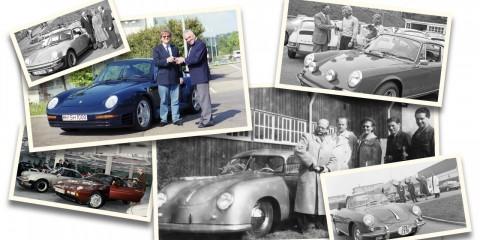70 år av fabriksleveranser hos Porsche