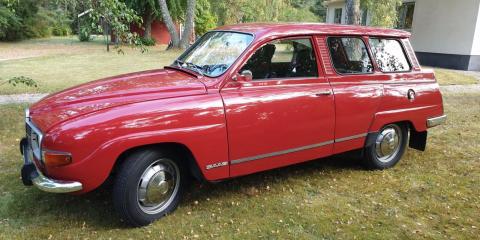 Saab 95 – 1974. Bara 840 mil och nära nyskick. 200 000 kronor!