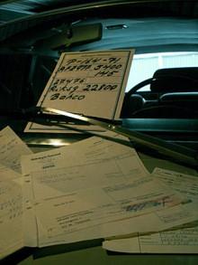 Prislappen från bilfirman som sålde 164:an begagand 1973 finns kvar. Volvos värde varar!