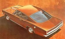 Barracuda generation två hade fortfarande en stor bakruta men mer konventionell än på ettan. 1968 gick den att få med rak sexa eller V8 på 275 hk SAE.