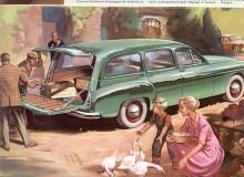 Ännu rymligare var givetvis herrgårdsvagnen. Tänk vad människorna var små i broschyrernas värld!
