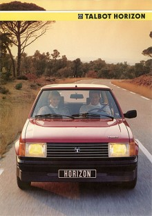 Talbot Horizon hängde med till 1986.