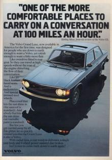 Volvo 142 GL 1974. Snabb och komfortabel enligt racingföraren Stirling Moss. Annonserna kommer från www.productioncars.com