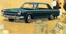 1964 var andra året för den kompakta Dodge Dart. GT HardTop kostade 23600 kr, tillägg för automatlåda var 1300 kr.