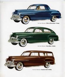Plymouthmodeller med grill från De Soto - så kan Diplomat 1950 sammanfattas.